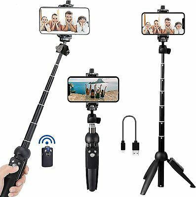 Portable 40 Inch Aluminum Alloy Selfie Stick Phone Tripod with Wireless Remote