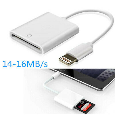 Camera SD Card Reader Adapter Cable for iPhone 8 Plus 6S Apple iPad Pro Air Mini