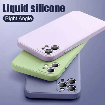 Liquid Silicone Case Camera Lens Cover For iPhone 11 12 Pro XS Max XR X 8 7 SE