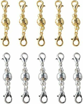10Pcs Magnetic Lobster Lock Clasps for Necklace Bracelet Jewelry Secure Extender