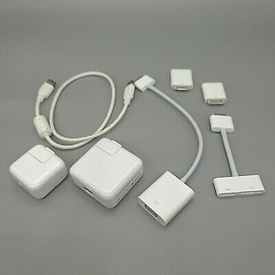 OEM Apple Accessories Mixed Lot Wall Brick Charger Adapter Media Video Firewire