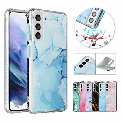 For Samsung Note20 S20 S21 S30 Ultra Plus Soft TPU Marble Case Shockproof Cover