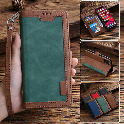For iPhone 11 12 Pro Max XS XR 678- SE2 Magnetic Leather Wallet Phone Case Cover