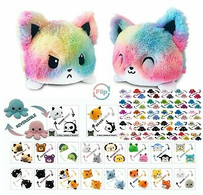 Reversible Flip Plush Stuffed Toy Soft Animal Home Accessory Baby Kids Safe Gift