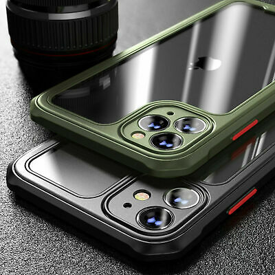 Shockproof Case for iPhone 11 12 Pro Max XR X XS 7 8 PLUS SE Bumper Clear Cover