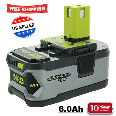 For RYOBI P108 18V One- Plus High Capacity Battery 18 Volt Lithium-Ion New 6-0Ah