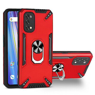 For OPPO Realme 5 6 7 Pro Shockproof Hybrid Armor Case Ring KickStand Cover