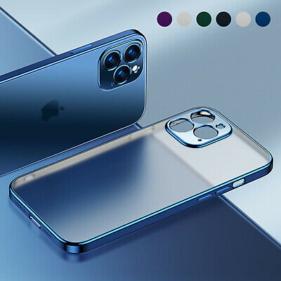 Matte Plating Case For iPhone 13 Pro Max 12 11 XS XR 8 7- Shockproof Clear Cover