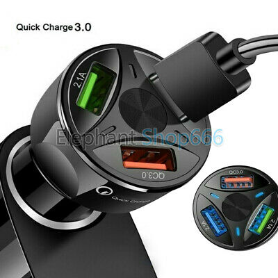 3 Port USB Fast Charging Adapter for Samsung iPhone Android Cell Phone Charger
