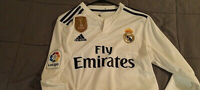 ADIDAS SERGIO RAMOS REAL MADRID LONG SLEEVE AUTHENTIC MATCH HOME JERSEY 201819