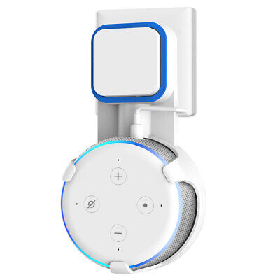 Outlet Wall Mount Bracket for Amazon Alexa Echo Dot 3rd Generation Stand White