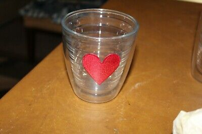 Tervis Tumbler Heart Patch Insulated Plastic Drinking Cups 4 14 Tall