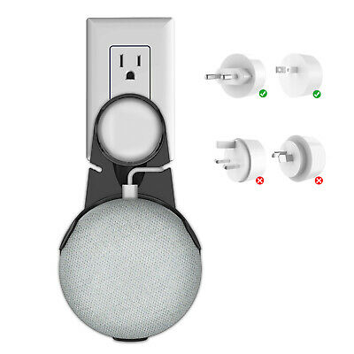 Outlet Wall Mount Bracket for Google Home Mini Wall Holder with Cable Organizer