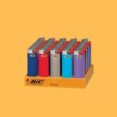 BIC Classic Lighter Assorted Colors 50-Count Tray -  Full Size - FREESHIPPING