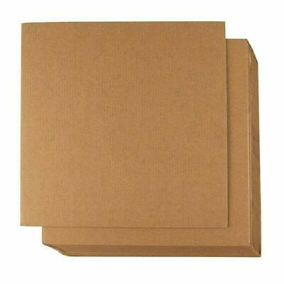 Corrugated Cardboard Sheets 24-Pack Flat Cardboard Inserts For Packing 12 X 12