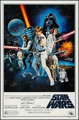 STAR WARS EPISODE IV A NEW HOPE MOVIE POSTER USA Style C 24x36