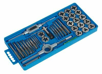 Standard SAE Tap and Die Set 40 Piece w Case Threading Chasing Repair NEW