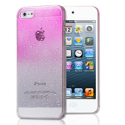 Pink Waterdrop Clear Hard Slim Snap-on Case Cover For Apple iPhone 5S5