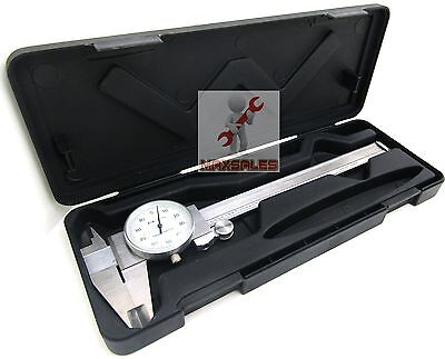 6 DIAL CALIPER STAINLESS STEEL SHOCKPROOF -001 OF ONE INCH-