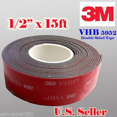 3M 12 x 15 ft  VHB Double Sided Foam Adhesive Tape 5952 Automotive Mounting