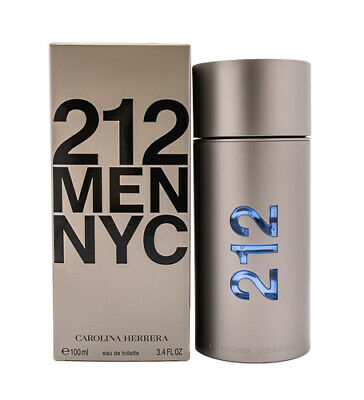 212 by Carolina Herrera 3-4 oz EDT Cologne for Men New In Box