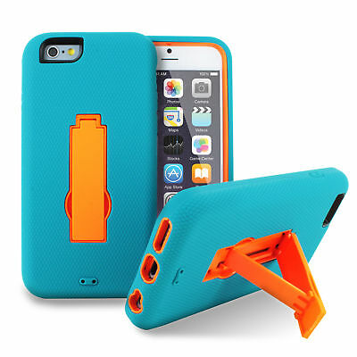 For Apple iPhone 6 Plus - 6 Impact Shockproof Rugged Hybrid Kickstand Case-SCP