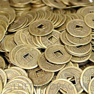 LOT OF 40 FENG SHUI COINS 0-9 2-3cm Lucky Chinese Fortune Coin I Ching Metal