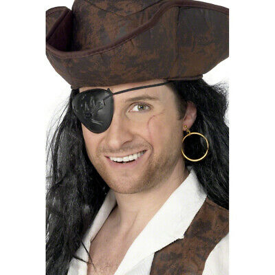 PIRATENKLAPPE MIT OHRRING PIRATEN SCHMUCK SET PIRATEN AUGENKLAPPE KOST M ZUBEH R