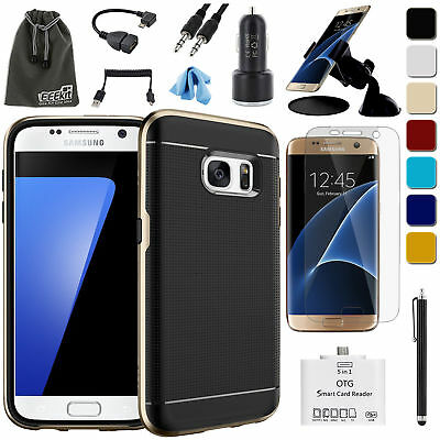 EEEKit for Galaxy S7S7 EdgeBumper CaseScreen ProtectorCar MountOTG Cable