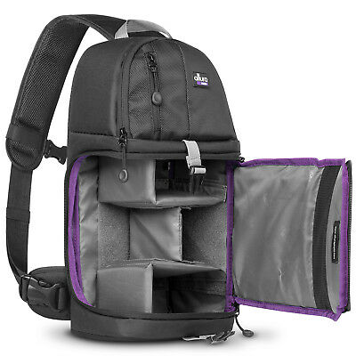 Camera Sling Backpack Bag for Canon Nikon Sony DSLR - Mirrorless by Altura Photo