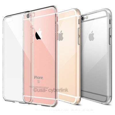For iPhone 6 - 6S Soft Silicone TPU Ultra Thin Slim Clear Transparent Cover Case