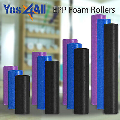 Yes4All Yoga Foam Roller EPP High Density Extra Firm Blue Black 12 18 24 36