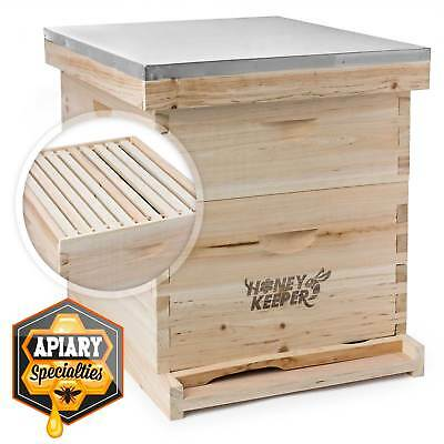 Beehive 20 Frame Complete Box Kit 10 Deep-10 Medium Langstroth Beekeeping