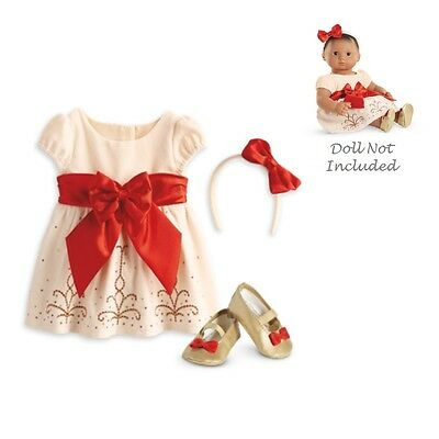 American Girl BITTY BABY  CREAM - CRIMSON OUTFIT for 15 Baby Dolls Clothes NEW