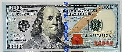 100 Dollar Bill Fed Reserve Note Series 2009 - 2013- Fast Shipping