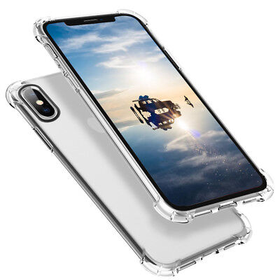 For Apple iPhone 8 7 Plus Case Clear Hybrid Slim Shockproof TPU Bumper Cover