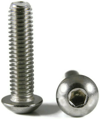 Stainless Steel Button Head Screw 100PCS 10-32 x12