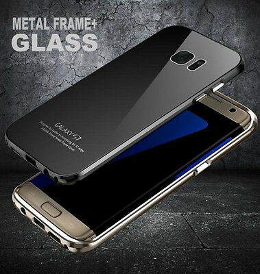 Luxury Metal Bumper Gorilla Glass Back Cover Case for Samsung Galaxy S7 S7 Edge