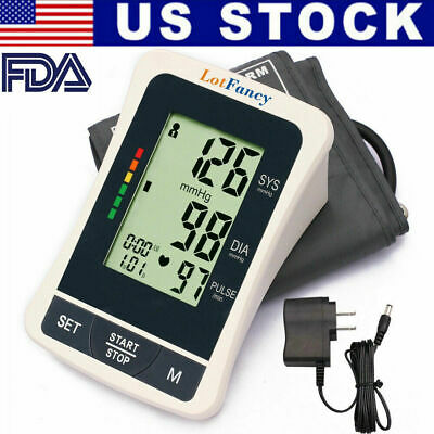 FDA Auto Digital Arm Cuff Blood Pressure Monitor Large M Home BP Machine Device