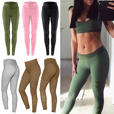 Damen Sport Gym Yoga Workout Leggings Fitness Sporthose Jogging Training Tights