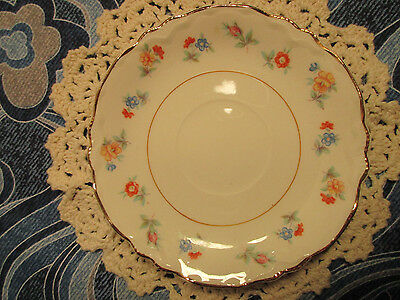 Vintage W S George Radisson SAUCER Multicolor Flowers Floral Pattern