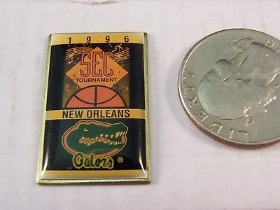 NCAA BASKETBALL 1996 SEC TOURNAMENT NEW ORLEANS UNIVERSITY FLORIDA GATORS PIN