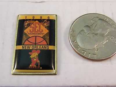 NCAA BASKETBALL 1996 SEC TOURNAMENT NEW ORLEANS UNIVERSITY MISSISSIPPI PIN OLE