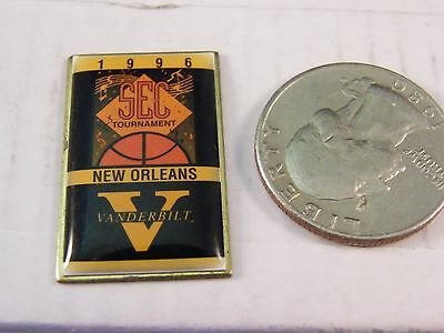 NCAA BASKETBALL 1996 SEC TOURNAMENT NEW ORLEANS VANDERBILT UNIVERSITY PIN