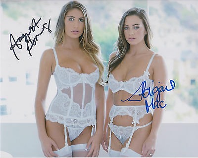 AUGUST AMES - ABIGAIL MAC Adult Video Star SIGNED 8X10 Photo