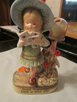 Girl Walking From  Mail Box FIGURINE VINTAGE AMERICAN GREETINGS CORP-