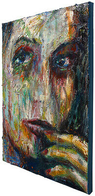 MODERN ORIGINAL OIL PAINTING VINTAGE ART ABSTRACT OUTSIDER REALISM PORTRAIT EBAY