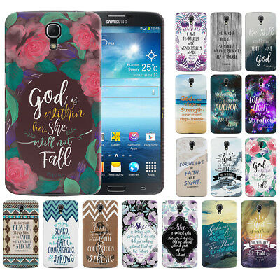 Bible Verses Design Hard Back Case Cover For Samsung Galaxy Mega 6-3 I527 I9200