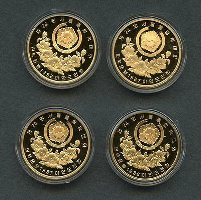 KOREA 1988 SEOUL OLYMPIC SILVER - GOLD PROOF COINS SET OF 20 IN ORIGINAL CASE
