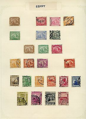 EGYPT SELECTION  OF  USED AND MINT HINGED STAMPS